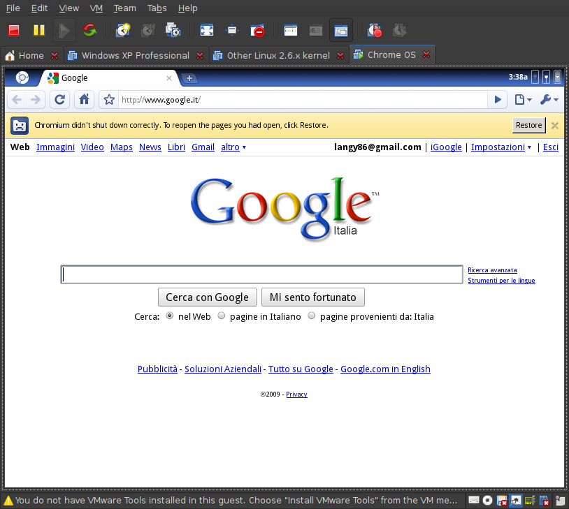 Screenshot-Chrome OS - VMware Workstation-2