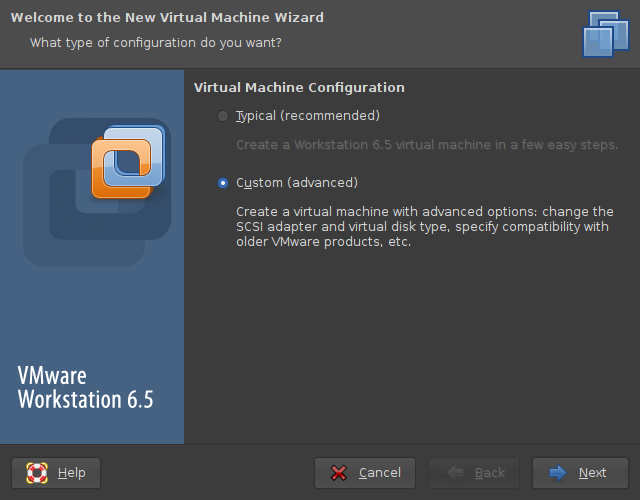Screenshot-New Virtual Machine Wizard