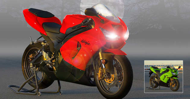 Virtual Tuning Kawasaki Ninja