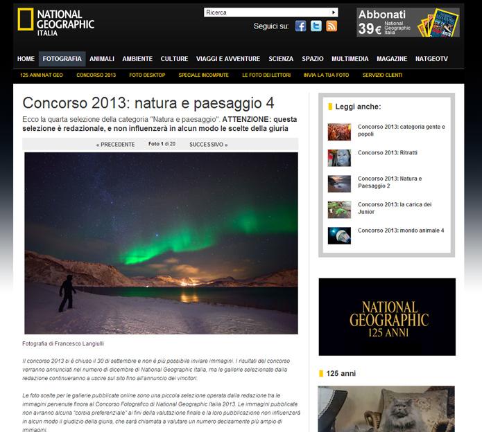 National Geographic - Concorso 2013: natura e paesaggio
