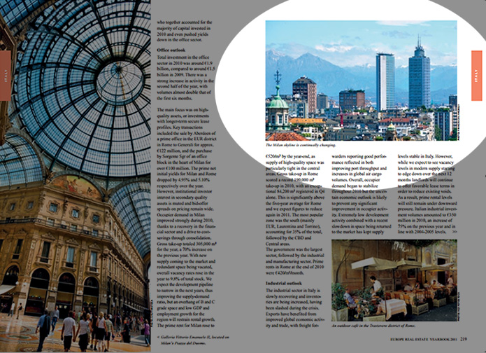 Europe Real Estate Yearbook 2011 (Milan Skyline in Italy chapter)