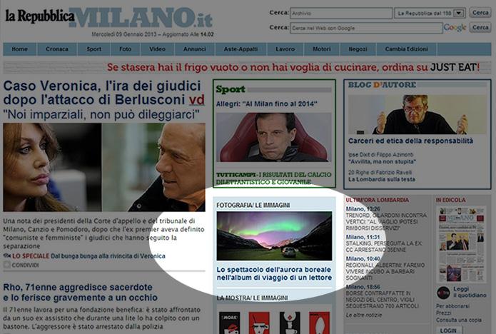 Repubblica Milano: Lo spettacolo dell'aurora boreale